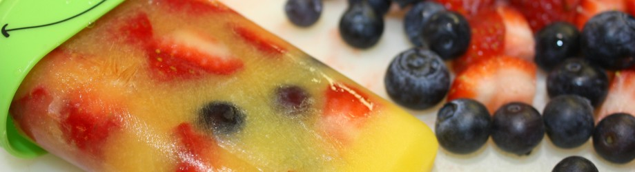 Easy Summer Fruit and Simply Orange Juice Frozen Pops