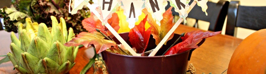 Simple Thanksgiving Centerpiece From The Dollar Tree – Savvy Sassy Moms