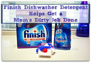 Finish dishwasher detergent helps get a mom's dirty job done #sparklyclean #shop #collect
