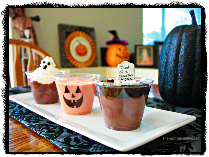 Halloween Pudding Cups #SnackPackMixins #shop