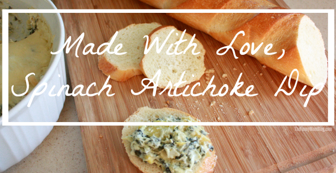 Made with love, Creamy Spinach Artichoke Dip Recipe inspired by the film The-Hundred Foot Journey