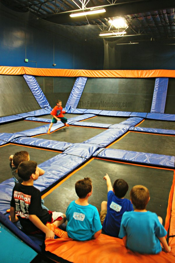 Dodgeball at Sky Zone Trampoline Park
