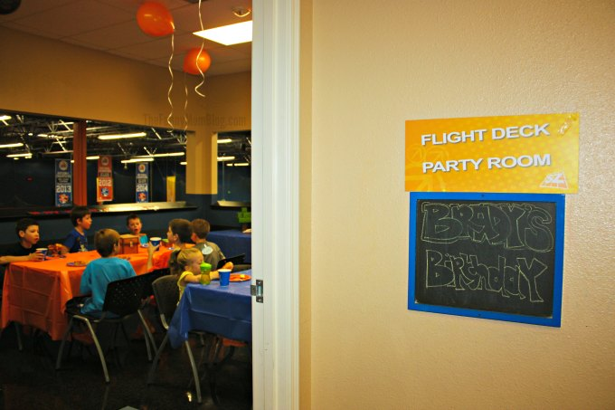 Flight Deck Party Room at Sky Zone Riverside