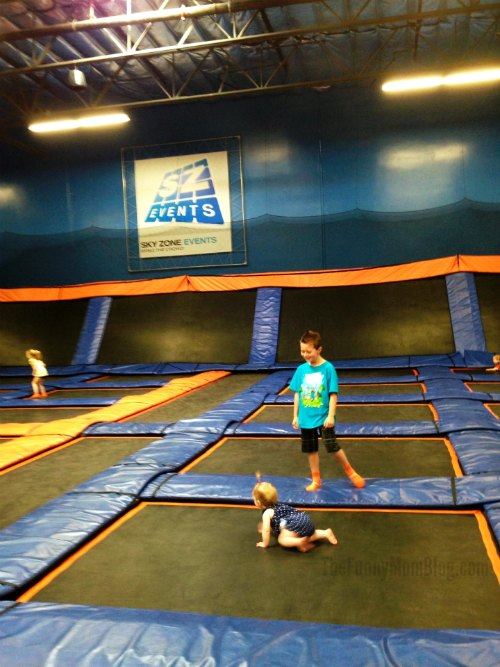 Sky Zone Trampoline Park for babies