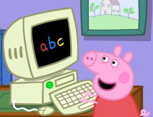 Peppa Pig learns the alphabet!