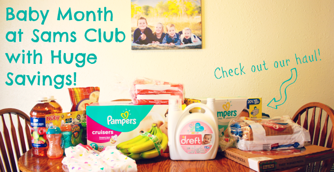 Celebrate Baby Month at Sams Club and Giveaway! #SamsClubBaby #finds