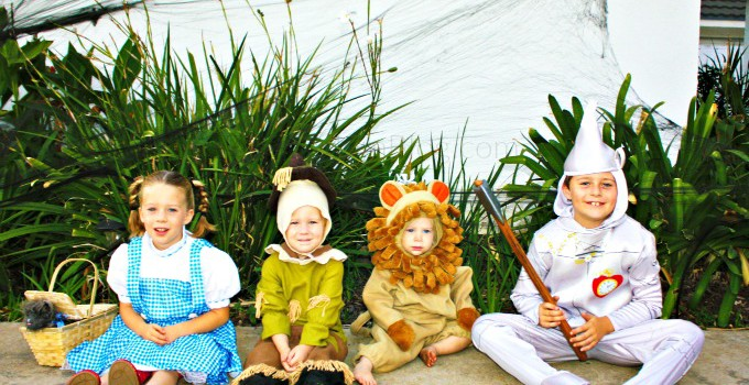 Following the Yellow Brick Road: Wizard of OZ Kids Costumes